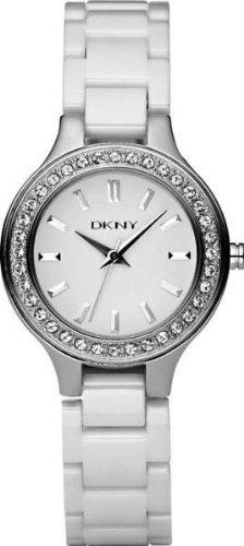 DKNY White Dial White Ceramic Ladies Watch NY4982