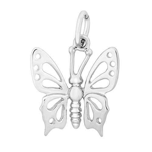 Animal Butterfly Necklace - Silver on the Rocks Animal & Nature Charms, Sterling Silver Jewelry Charms for Necklace, Bracelet
