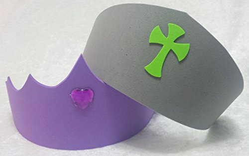 Sofia the First Tiara & Prince James Knight Helmet Hat Party Favors (Party Pack - Available in sets of 6, 8, 10, or 12)