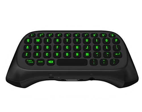 LED ChatPad for Xbox One, Xbox One S, Xbox X Controllers Black Keyboard – Wireless & Backlit by Gamers Digital