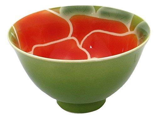 Rose Arita yaki 4.6inch Ricebowl Green Porcelain by Watou.asia