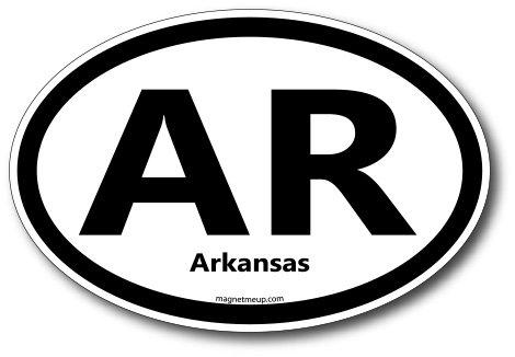 AR Arkansas Car Magnet US State Oval Refrigerator Locker SUV Heavy Duty Waterproof…
