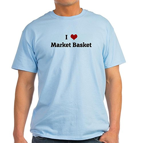 CafePress Love Market Basket Light T-Shirt - 100% Cotton T-Shirt