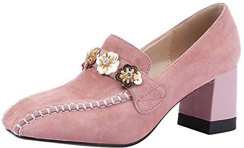 5CM Mujer Arraysa Square Qaicj de Zapatos Toe 6 Ponerse tac wXxxnqR7d