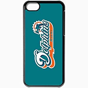 Personalized iPhone 5C Cell phone Case/Cover Skin 1444 miami dolphins 0 Black