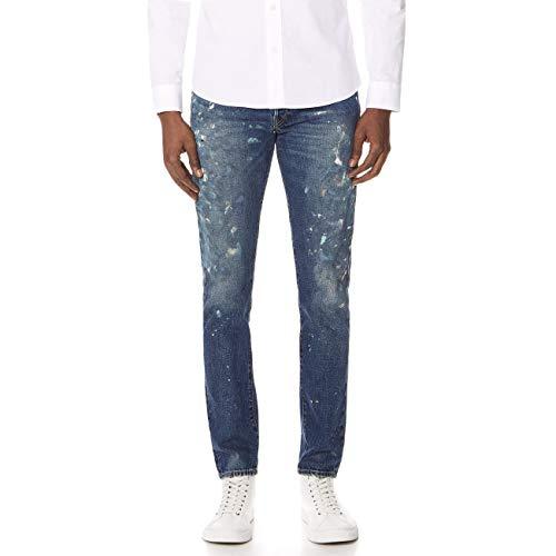 Polo Ralph Lauren Men's Varick Slim Straight Jeans (Roberts Paint Splattered, 34W x 30L)