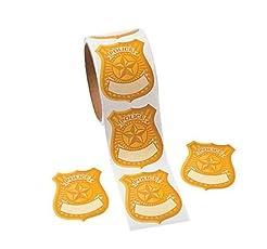Fun Express Police Badge Name Tag Sticke...