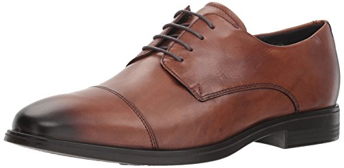 ECCO Men's Melbourne Cap Toe Tie Oxford, Amber, 41 M EU (7-7.5 US)