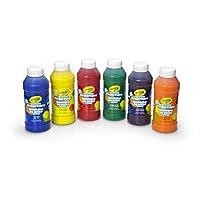 Crayola 6 Count 8 oz. Washable Kids Fingerpaints, Paint Supplies for Kids,3 B...