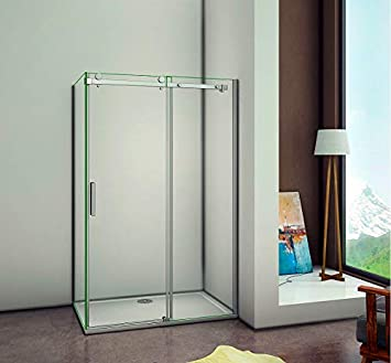 8 mm Nano Cristal puerta de ducha puertas para mampara de ducha pared puerta corredera: Amazon.es: Bricolaje y herramientas