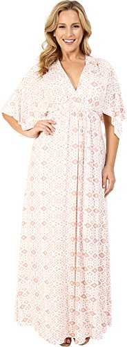 Rachel Pally Plus Women's Plus Size Long Caftan Dress Dusty Medallion Dress 2X (US 18W-20W)