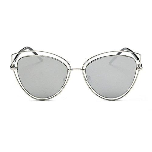 Aoligei Oeil de chat lunettes de soleil lunettes de soleil Metal européen et américain film Lady lunettes de soleil-tendance Fashion B