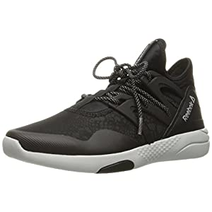 Reebok Women's Hayasu Cross-Trainer Shoe, Black/Skull Grey/Silver Reflective, 8 M US