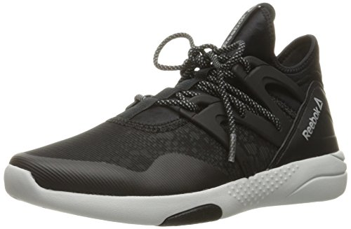 Trainer Womens Shoes - Reebok Women's Hayasu Cross-Trainer Shoe, Black/Skull Grey/Silver Reflective, 8 M US