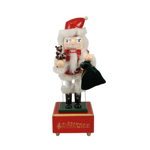 (Nutcracker Factory Decorative Wooden Animated and Musical Christmas Nutcracker Santa, 12