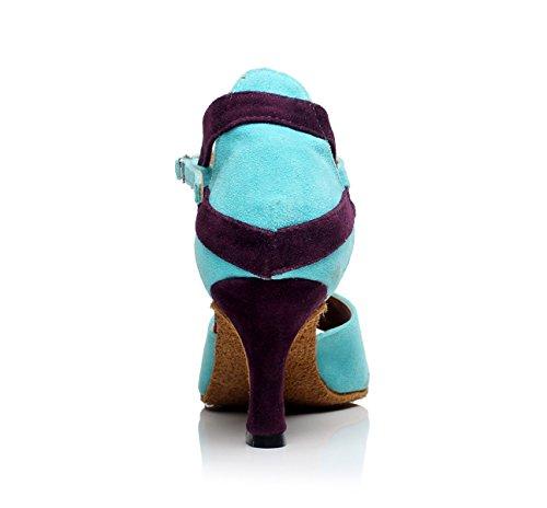 Party Salsa Femmes Talons Chaussures Hauts Latino Jazz Our42 Danse de Danse Ballroom T heeled7 Sexy UK7 EU41 Blue Latin Tango Strap JSHOE Chaussures 5cm qfOAwXA