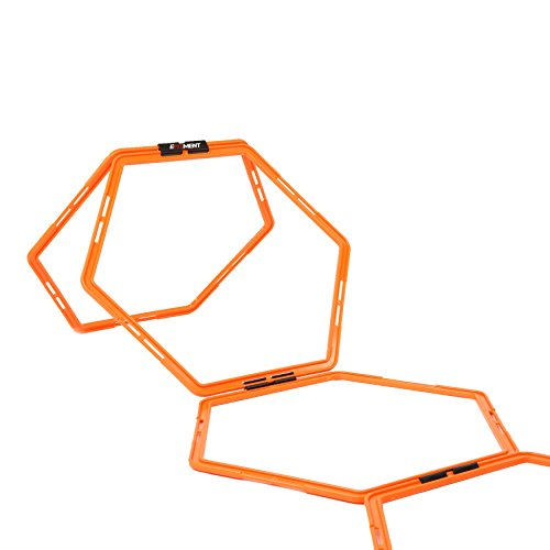 Hexagonal Hex Speed Rings, Agility Rings for Fitness Training by EFITMENT A009