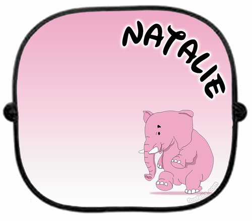 PERSONALISED   PINK ELEPHANT   CAR SUNSHADE x 1 - New Custom Collapsible  Kid Baby Child Visor Window Your Name UV Screen Sunshades Present Newborn  Gift Sun ... 81a35c7f396
