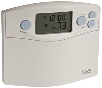 Supco 43355 Programmable Wall Thermostat with Blue Night Light, 45 to 95 Degree F, 20-30 VAC