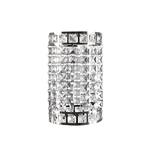 Tadpoles Faux-Crystal & Chrome Cylinder Shade, Chandelier Style