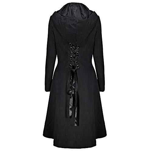 Manteau Steampunk Robe Femme Vintage Longue Hauts Outwear Black Blazer Trench Manteaux Rétro Yuyoug Jacket Gothique qwEFWTa