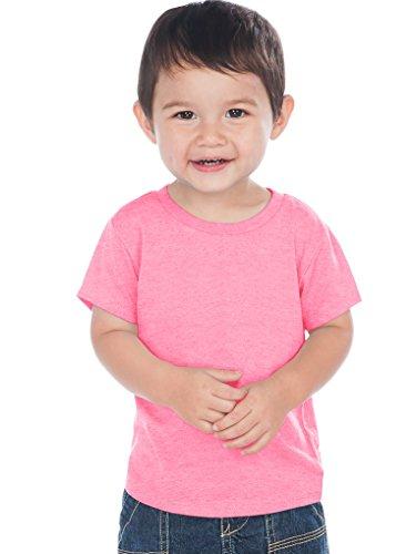 Kavio! Unisex Infants Crew Neck Short Sleeve Tee (Same IJC0432) Pink Flash 18M