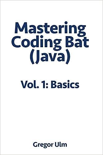 Mastering CodingBat (Java), Vol  1: Basics: Gregor Ulm