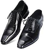 [IGRESS] ビジネスシューズ メンズ 本革 革靴 紳士靴 25-28㎝ イタリアンデザイン ロングノーズ