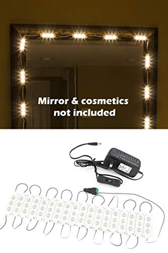 (MAKE UP MIRROR WARM WHITE LED LIGHT for VANITY MIRROR and UL power supply PREMIUM series)