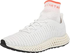 Time to enter beast mode wearing the adidas® by Stella McCartney™ Alphaedge 4D sneaker.  adidas Primeknit 360 seamless upper. Lace-front closure and pull-tab at the heel. Round-toe silhouette.  Compression sock at the ankle. Fabric lin...
