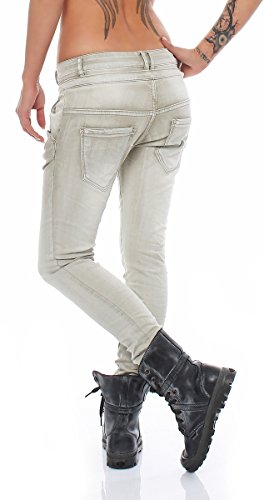 Skutari Harem - Pantalones vaqueros ajustados para mujer Blassgrün