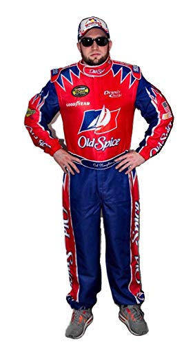 OEM CAL Naughton Jr Nascar Jumpsuit + Cap Costume Talladega Nights (XL), Mix]()