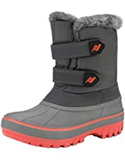 DREAM PAIRS Boys & Girls Toddler/Little Kid/Big Kid Ducko Ankle Winter Snow Boots