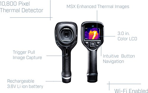 FLIR E5: Compact Thermal Imaging Camera with 120 x 90 IR Resolution, MSX and Wi-Fi