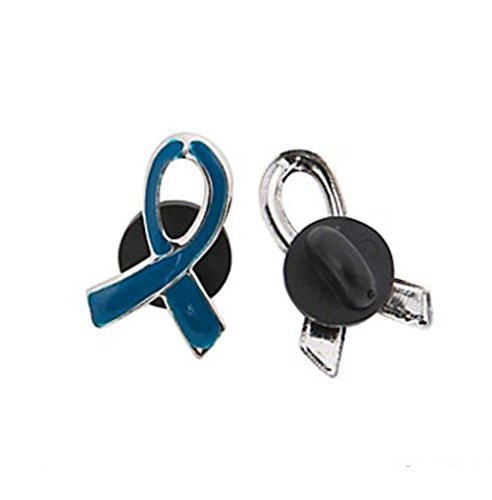 - 1 Blue Awareness Ribbon Pin Support colon, colorectal cancer, child abuse, respiratory