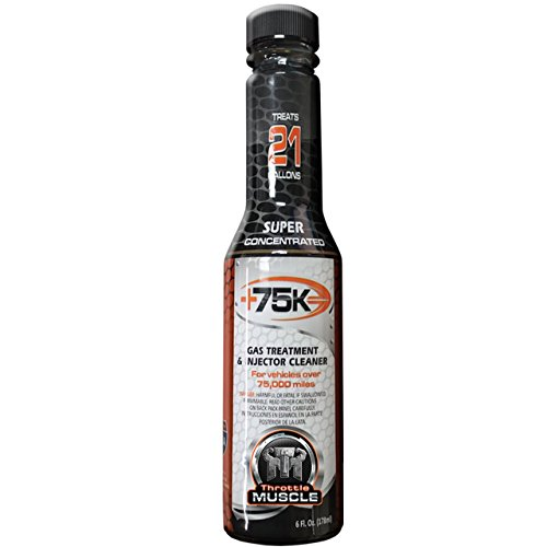 Truck Gas Mileage - Throttle Muscle TM2639 - +75K Super Concentrated High Mileage Gas Treatment and Injector Cleaner 6 Oz