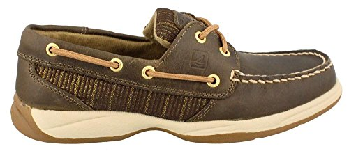 Sperry Top-Sider Women's Intrepid Olive Gold Boat Shoe 7.5 M (B)