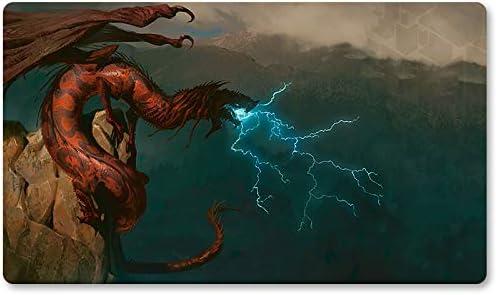 Playmats - Alfombrilla de Juego para Juegos de Mesa de dragón de tormenta - Juego de Mesa MTG -