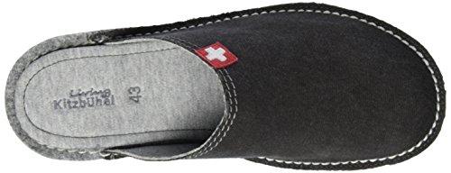 Living Kitzbühel Pantoffel Flex Schweizer Kreuz Herren Pantoffeln Grau (anthra 600)