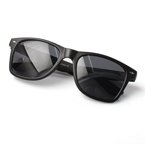 Accessoryo Noir De Style De Wayfarer Classique Verres Noirs Soleil Teintés Mat Avec Lunettes qFB1nqf