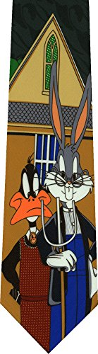 Daffy Duck Bugs Bunny Novelty Necktie (Tunes Necktie Looney)
