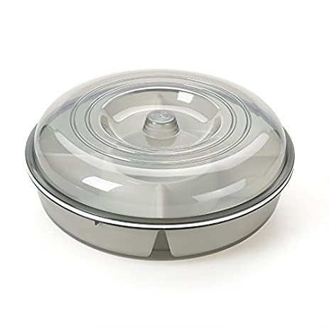 Multi Sectional Snack Serving Tray Set with Lid. Can Hold Dried Fruits Nuts  sc 1 st  Amazon.com : sectional tray - Sectionals, Sofas & Couches
