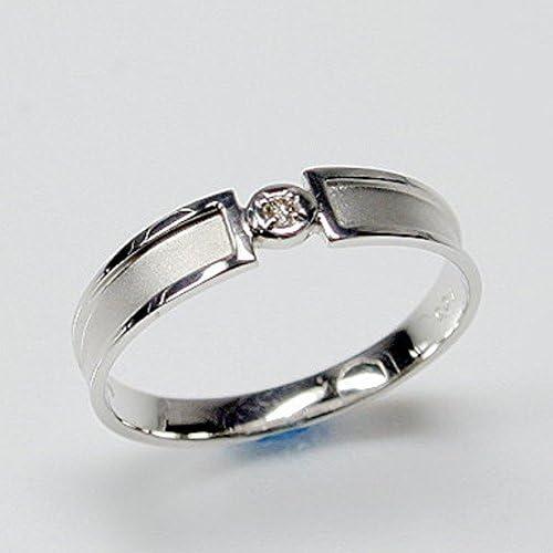 ダイヤモンド K10 ホワイトゴールド リング 指輪 12号 天然 ダイヤ 日本製