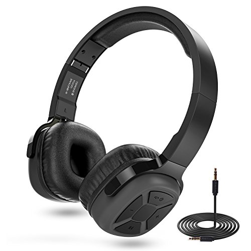 senbowe super bass wireless on ear bluetooth headphones with mic audio and wired mode noise. Black Bedroom Furniture Sets. Home Design Ideas
