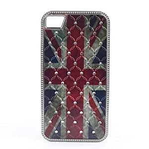 The Union Jack Pattern Diamond Look Hard Case for iPhone 4/4S