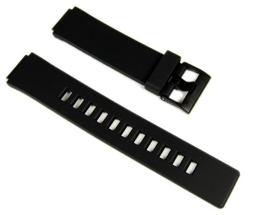 Casio watch strap watchband Resin black 16mm W-110 LCF20 LDF20 by Casio