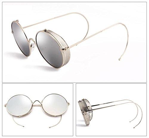 Personalizadas Sol Protecciónn color amp; Moda 5 Lente x333 Coreana De 2 Lym Redondas amp;gafas Gafas A4fqx8