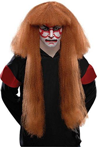 Rubie's Costume Kabuki Wig, Brown, One Size