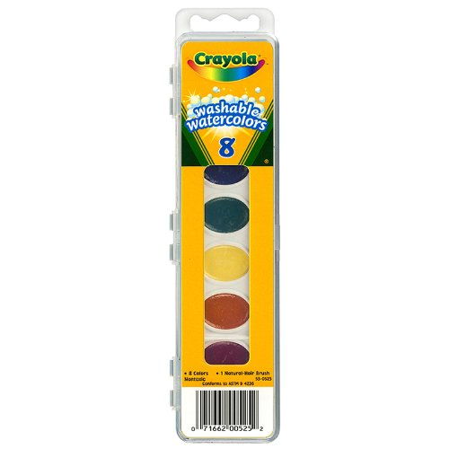 Crayola Watercolor Paints Washable 8 Primary Colors ( Pack of 6 ) -