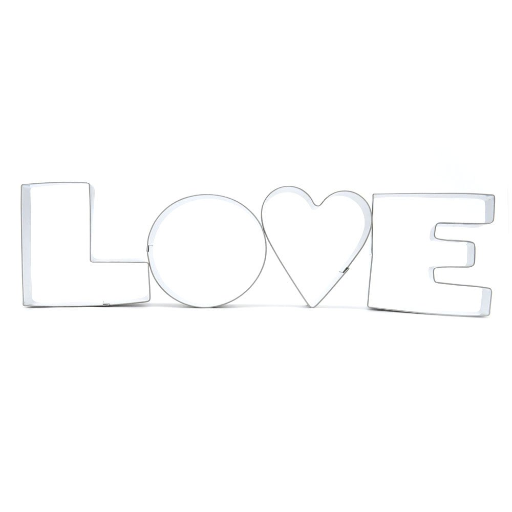Metal Biscuit Pastry Cookie Cutter Jelly Craft Fondant DIY Kitchen Baking Tool Sandwiches A218 Love